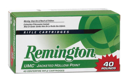 Remington UMC Value Pack 223 Rem/5.56 NATO 45GR JHP 40 Box/10 Cs