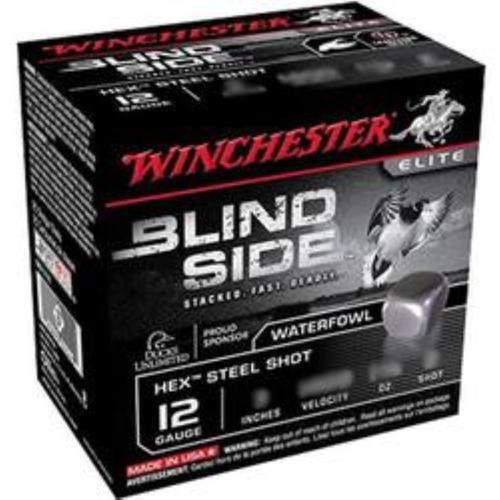 "Winchester Blind Side 12 Ga, 3"", Hex Steel Shot 1-1/8 oz, 25rd/Box"