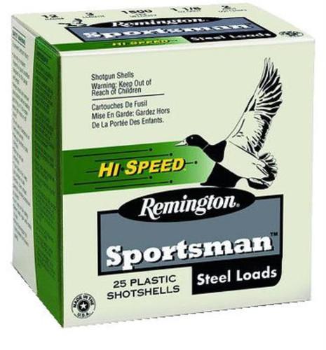 "Remington Sportsman Hi-Speed Loads 12 Ga, 3"", 1.1oz, BB Shot, 25rd/Box"