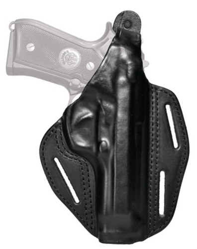 Blackhawk Three Slot Leather Pancake Holster Black Right Hand For Smith and Wesson M&P Compact 9mm/.40