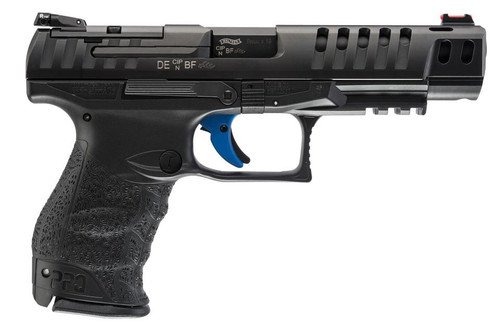 """Walther PPQ M2 Q5 Match 9mm 5"""" Barrel Target Sights 3-15 Rd Mags"""
