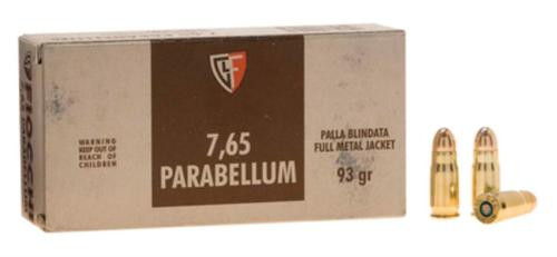 Fiocchi Specialty .30 Luger 93gr, Full Metal Jacket, 50rd/Box, 20 Box/Case