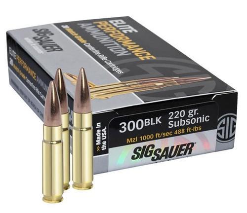 Sig Ammo 300 Blackout120Gr, Elite Hunting, Solid Copper, 20rd Box