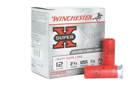 "Winchester Super-X Heavy Game Load 12 Ga, 2.75"", 1.1oz, 7.5 Shot, 25rd/Box"