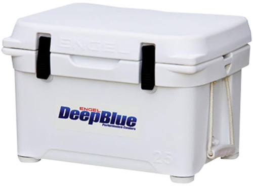 Engel Deep Blue Performance Coolers, 25 Quart, White