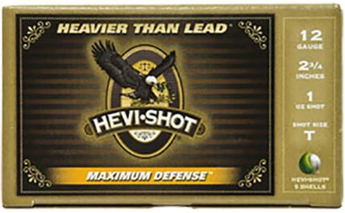 "HEVI-Shot Maximum Defense 12 Ga, 2.75"", 1-1/8oz, BB, 5rd/Box"