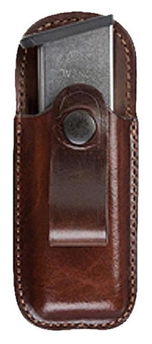 Bianchi 21 Open Top Mag Pouch Colt Govt 45 Tan Leather