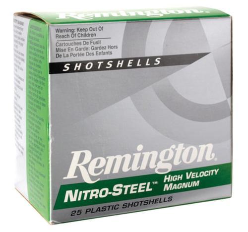 """Remington Nitro Steel Shotshells 12 Ga, 3"""", 1.3oz, 4 Shot, 25rd/Box"""
