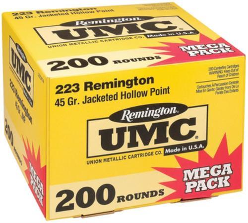 Remington UMC .223 Rem 45gr Jacketed Hollow Point 200rd/Box