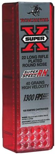 Winchester Super-X 22LR 40gr, Round Nose 100rd Box