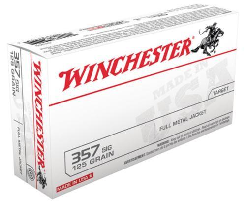 Winchester USA 357 Sig Sauer Full Metal Jacket 125gr, 50Box/10Case