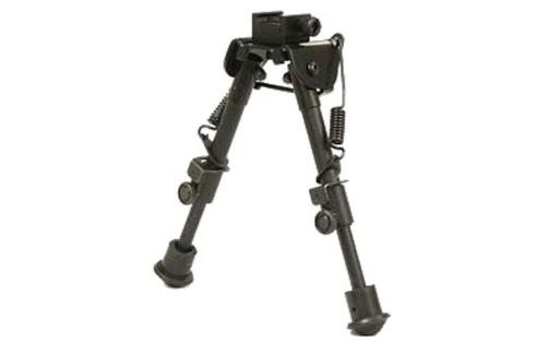 """Leapers, Inc. - UTG Tactical Op Bipod, Fits Picatinny Rail or Swivel Stud, 6.1"""" - 7.9"""", SWAT/ Combat Profile with Adjustable Height, Black"""
