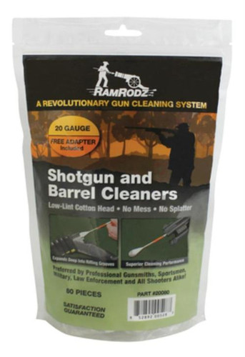 RamRodz Barrel Cleaner 20ga Cleaning Swabs