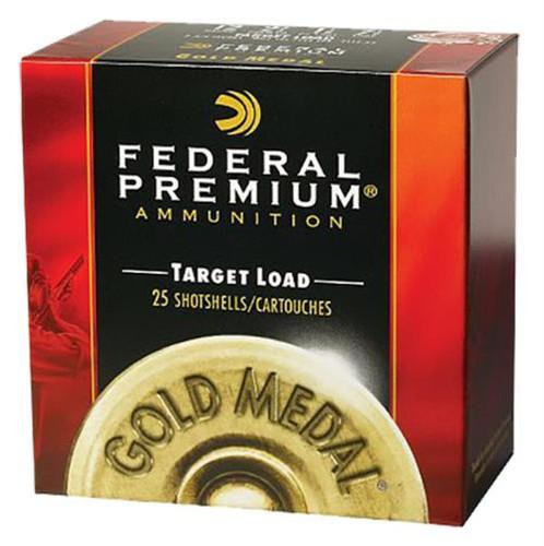 "Federal Competition Gold Medal Plastic 20 Ga, 2.75"", 7/8oz, 9 Shot, 25rd/Box"