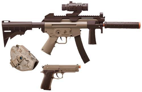 Crosman Marines Air Rifle Kit Semi-Auto 6mm Airsoft Two Tone