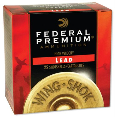 "Federal Prem Wing-Shok High Velocity Lead 20 Ga, 2.75"", 1oz, 4 Shot, 25rd/Box"