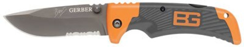 Gerber / BG Bear Grylls Survival Series Scout, Drop Point, Serrated, Pocket Folding Knives