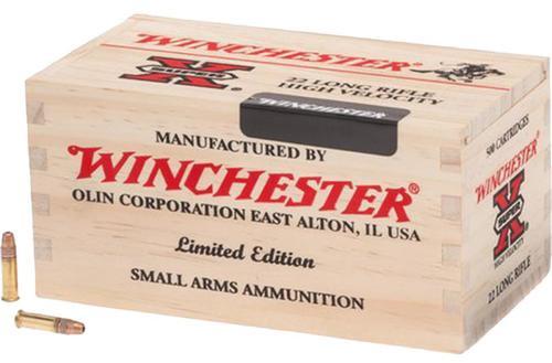 Winchester Super-X 22LR 36gr, HP, Bulk, 6x500rd/Wooden Box, 3000rds Total