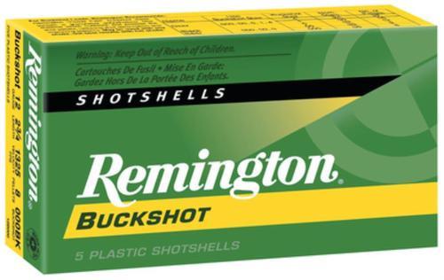 Remington Express Buckshot Shotshells 12 ga 3 41 Pellets 4 Buck Shot 5rd/Box