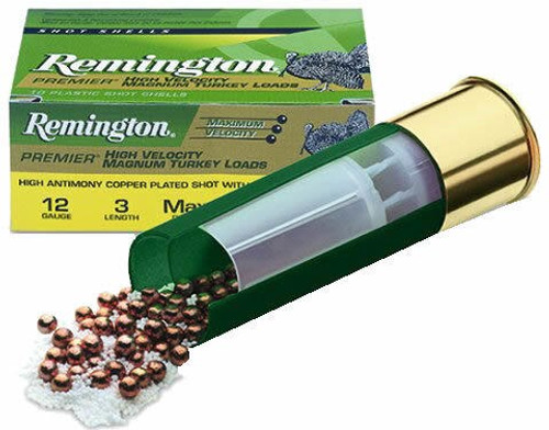 "Remington Premier High Velocity Mag Turkey 12 Ga, 3"", 1-3/4oz, 4 Shot, 10rd/Box"