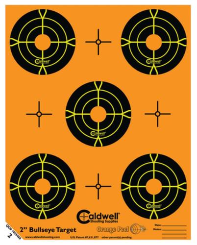 "Battenfeld Technologies Caldwell Orange Peel Flake Off Bullseye Targets 2"" 10 Sheets/5 Per Sheet"