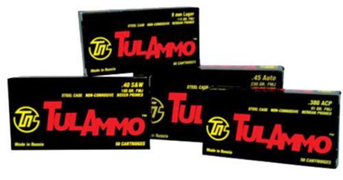Tulammo .40 SW 180gr, Full Metal Jacket, Steel Case, 50rd/Box