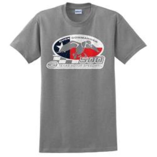 Duck Commander Texas Flag T-Shirt Short Sleeve Gray Med Cotton 10Pk