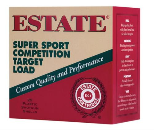 Estate Super Sport Target 12 Ga, 1 1/8oz, 8 Shot, 25rd/Box