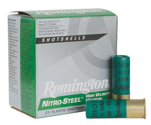 """Remington Nitro Steel Shotshells 16 Ga, 2.75"""", .94oz, 4 Shot, 25rd/Box"""