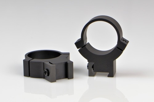 Warne 1 Inch, Rimfire High Matte Rings, Fits 3/8 - 11mm Dovetail