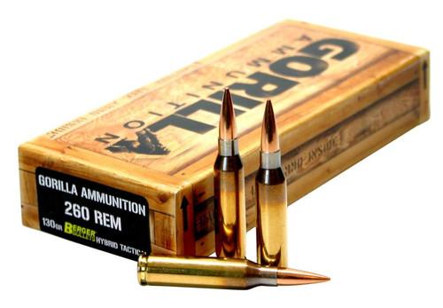 Gorilla Match 260 Remington 130 gr, Open Tip Match 20 Bx/ 10