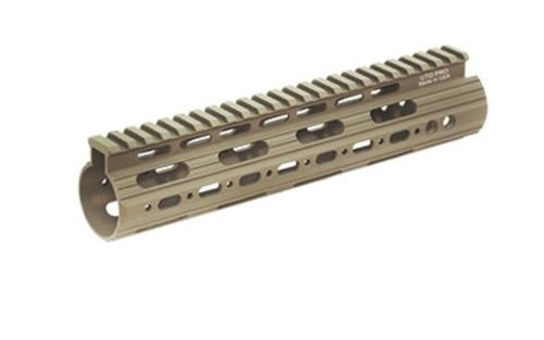 "Leapers, Inc. - UTG Handguard, Fits AR Rifles, 9"" Carbine Length, Super Slim Free Float, Flat Dark Earth Cerakote"