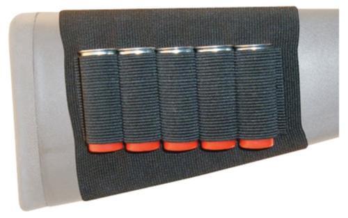 GrovTec US, Inc. Grovtec Us Inc Gt Buttstock Cartridge Shell Holder - Shotgun Open Style 5 Loops Black