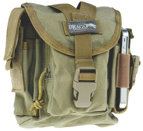 Drago Gear 16302TN Patrol Pack Belt Bag Reinforced Webbing Tan