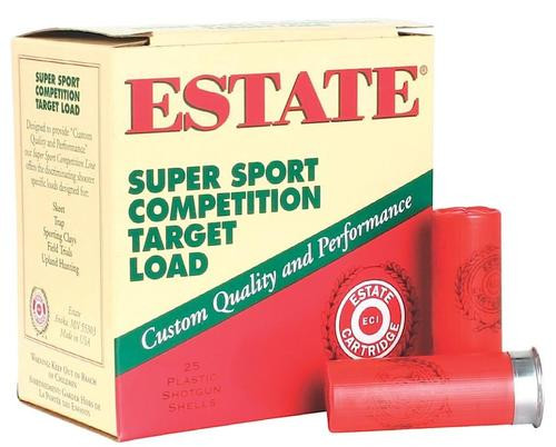 Estate Super Sport Target 12 Ga, 7.5 Shot, 1 1/8oz, 25rd/Box