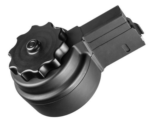 XS X-10 AR10 High Capacity Drum Magazine, 50 Round, Black