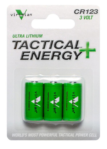 Viridian Lasers Tactical Energy Ultra Lithium CR123A Batteries 3-Pack