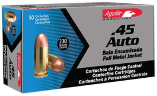 Aguila 45 ACP 230gr, FMJ, 50rd/Box