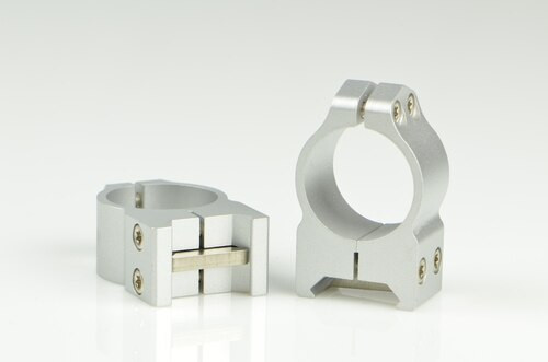 Warne 1 Inch, PA, Medium Silver Rings, Steel, Fixed for Maxima/Weaver Style or Picatinny Bases