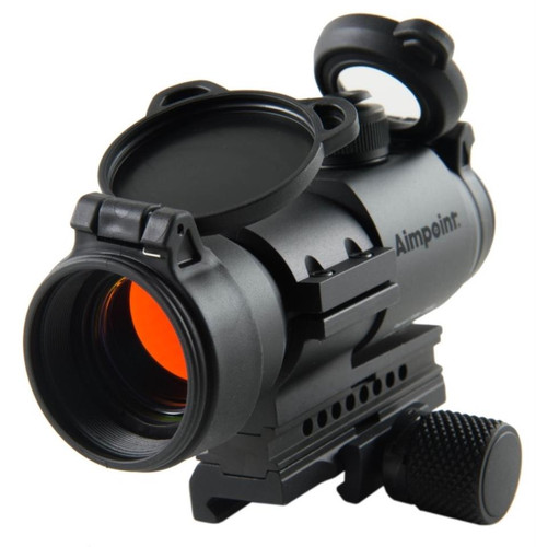 Aimpoint PRO Patrol Rifle Optic 30MM, Modular QRP2 AR-15 Mount, Flip Covers