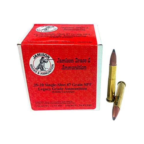 Jamison 25-20 Single Shot, 87 Gr, SPT, 20rd/Box