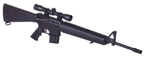 Crosman 30060 NP Air Rifle Break Open .177 Pellet Black, 4x32mm Scope