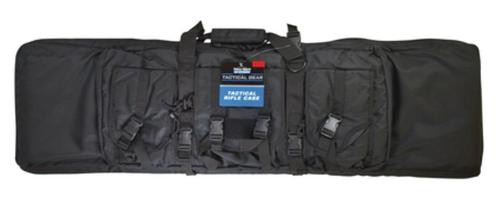 Uncle Mike's Tactical Assault Rifle Soft-sided Case With Pockets and Adjustable Shoulder Strap Black Nylon 43 Inch