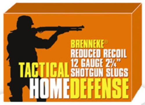 "Brenneke Tactical Home Defense 12 Ga Rifled Lead Slug, 2.75"", 1oz, Slug, 5rd/Box"