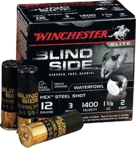 "Winchester Blindside 12 Ga, 3"", Steel, 1 3/8oz, 200rd/Case"