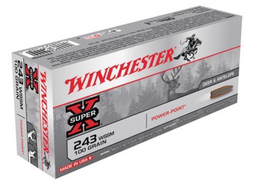 Winchester Super X 243 Win Super Short Mag Power-Point 100gr, 20Box/10Case