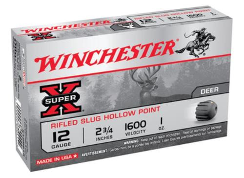 "Winchester Super-X Rifled Lead 12 Ga, 2.75"", 1oz, Slug 5rd/Box"