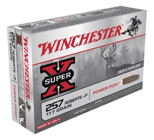 Winchester Super-X .257 Roberts +P 117gr, Power-Point 20rd Box