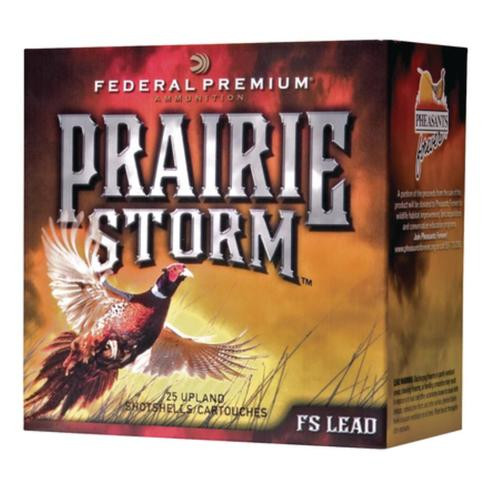 "Federal Premium Prairie Storm FS Lead 12 Ga, 3"", 1350 FPS, 1.625oz, 4 Shot, 25rd/Box"