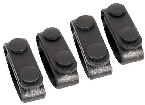 Blackhawk Belt Keeper Set of 4 Black Nylon